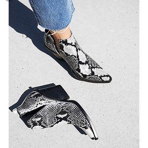 Jeffrey Campbell white snake boot